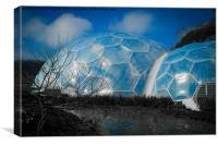 blue domes, Canvas Print