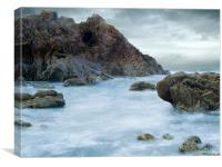 Coldingham Beach., Canvas Print
