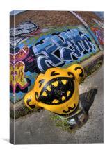 grafitti Walk Salford., Canvas Print