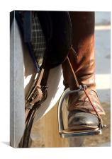 Riders Boots., Canvas Print