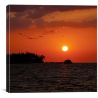 Anna Maria Island, Florida, Sunset, Canvas Print