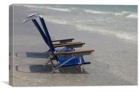 Beach chairs at Anna Maria Island, Canvas Print