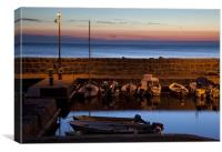 Sunset at Vang marina, Canvas Print