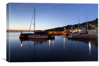 The blue hour at Vang marina, Canvas Print