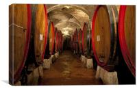 Winecellar in Toscany, Canvas Print