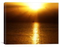 Sunset Cruise, Canvas Print