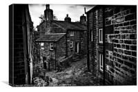 Heptonstall:Village on the Hill, Canvas Print