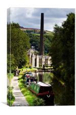 Towards Hebden Bridge, Canvas Print