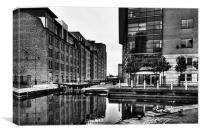 Rochdale Canal, Manchester City Centre, Canvas Print