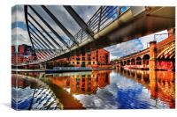 Castlefield Junction  Manchester, Canvas Print