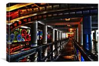 Under Piccadilly, Canvas Print