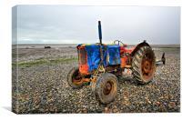 Lytham Tractor, Canvas Print