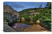 Hebden View, Canvas Print