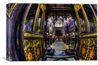 The Quire Manchester Cathedral, Canvas Print
