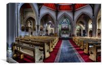 Sacred Heart Catholic Church Blackpool, Canvas Print