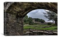 Whalley Abbey, Canvas Print