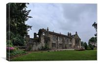 Whalley Abbey and Grounds, Canvas Print