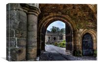 Gateway to Whalley Abbey, Canvas Print