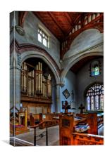 St Mary Magdelene Church Clitheroe, Canvas Print