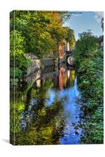 Springs branch Canal Skipton, Canvas Print