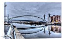 The Millenium Bridge Salford Quays, Canvas Print