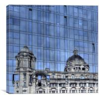 Old and new architecture Liverpool, Canvas Print