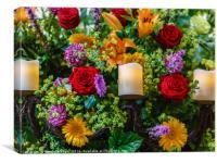 Floral Display, Canvas Print