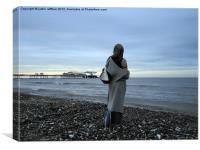 Cromer Beach At Dusk, Canvas Print