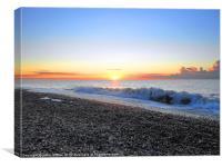 Sunrise at Thorpeness Beach, Canvas Print