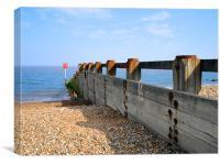 Aldeburgh Sea Defences, Canvas Print