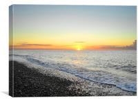 Sunrise At Thorpeness 2, Canvas Print