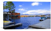Lake Placid Marina, Canvas Print