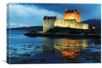 CASTLE IN LIGHTS, Canvas Print