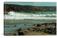 STILL SOME BEACH, Canvas Print