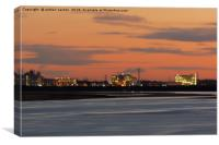 SUNSET AT WORK, Canvas Print