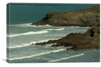 NEWQUAY WAVES, Canvas Print