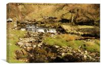 BRANTS GILL WATERFALL, Canvas Print