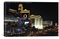 The Strip at night., Canvas Print