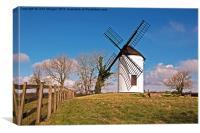 Cold Ashton Windmill., Canvas Print