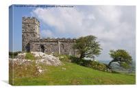 Bren Tor Church, Dartmoor., Canvas Print
