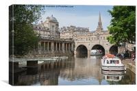 River Avon, Bath., Canvas Print