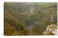 Cheddar Gorge., Canvas Print