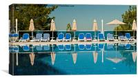 Poolside reflections., Canvas Print