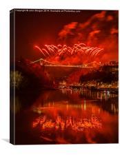 Bristols fireworks., Canvas Print