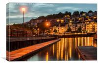 Harbour lights., Canvas Print