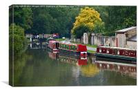 The Kennet and Avon Canal, Bath., Canvas Print