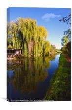 Canal @ Stoke Pound Bromsgrove, Canvas Print