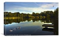 Lake @ Arrow Valley Country Park Redditch, Canvas Print