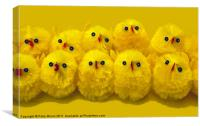 10 Little Easter Chicks, Canvas Print