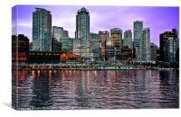 Vancouver Harbour @ Dusk, Canvas Print